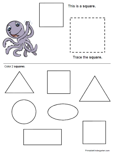 5 Images of Printable Kindergarten Worksheets Shapes