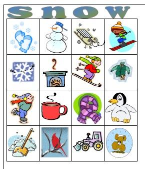 7 Images of Printable Winter Bingo
