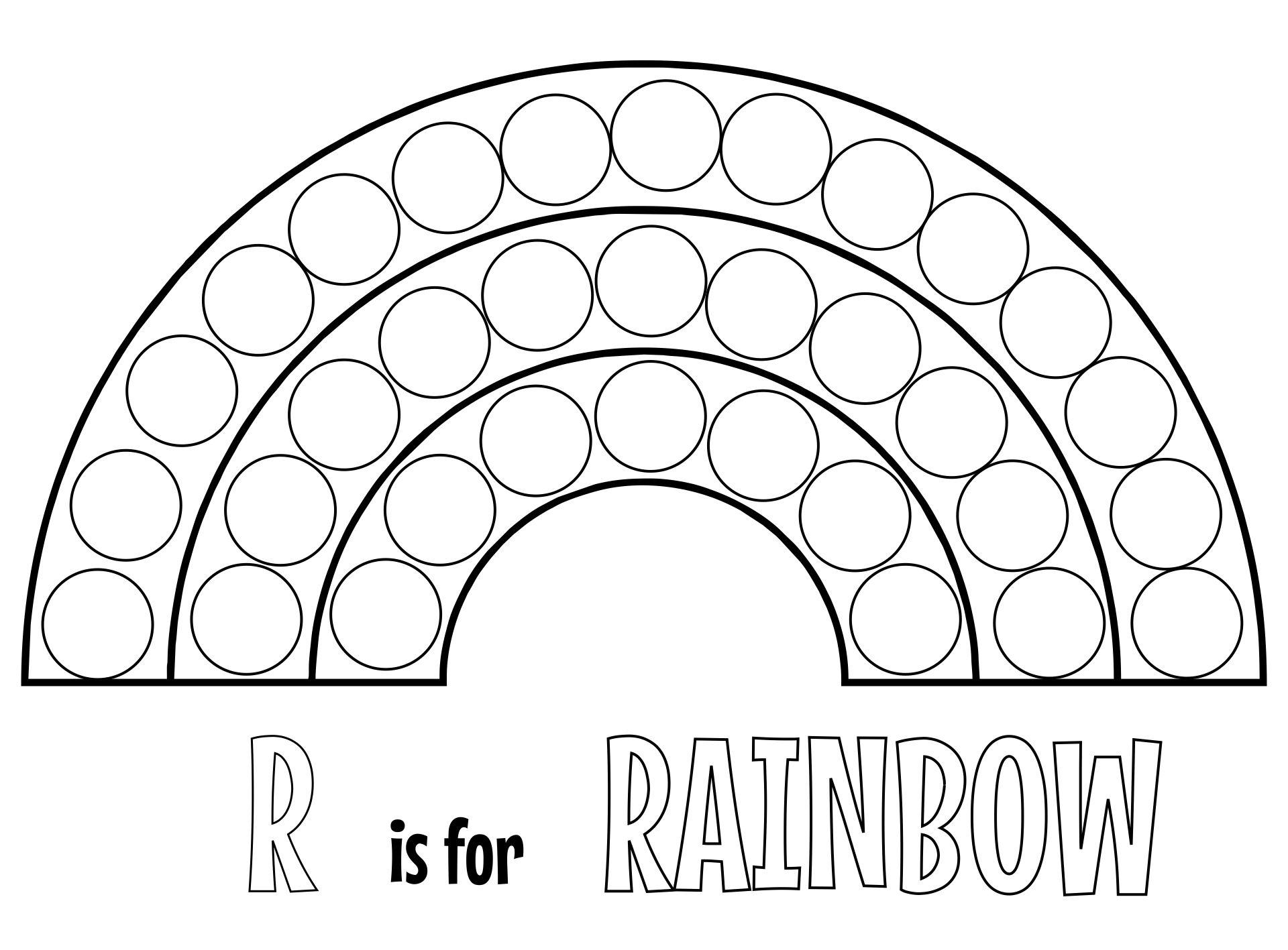Rainbow Dot Marker Printables