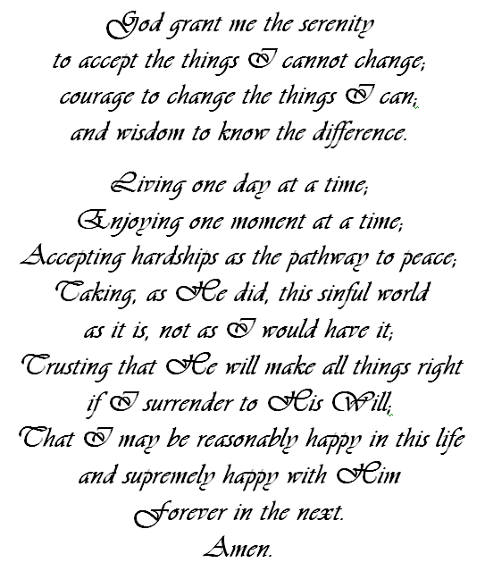 5 Images of Complete Serenity Prayer Printable
