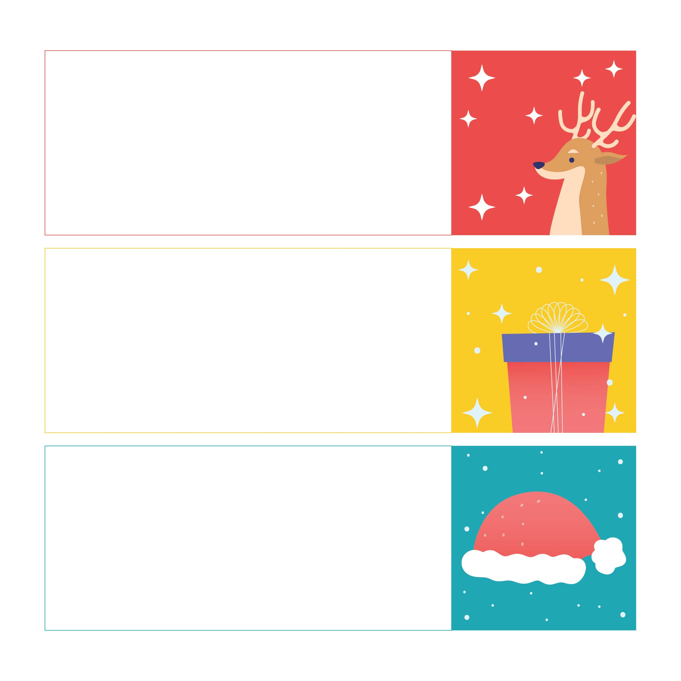 7 Images of Small Christmas Cards Free Printable