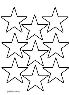 6 Images of Small American Flag Star Stencil Printable