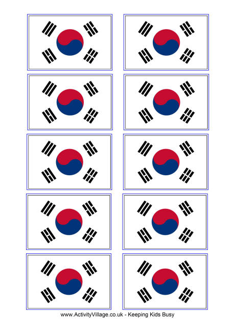 5 Images of Printable Picture Of Korea Flag