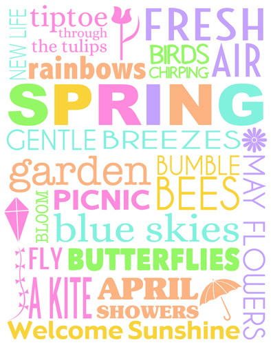 4 Images of Spring Subway Printable