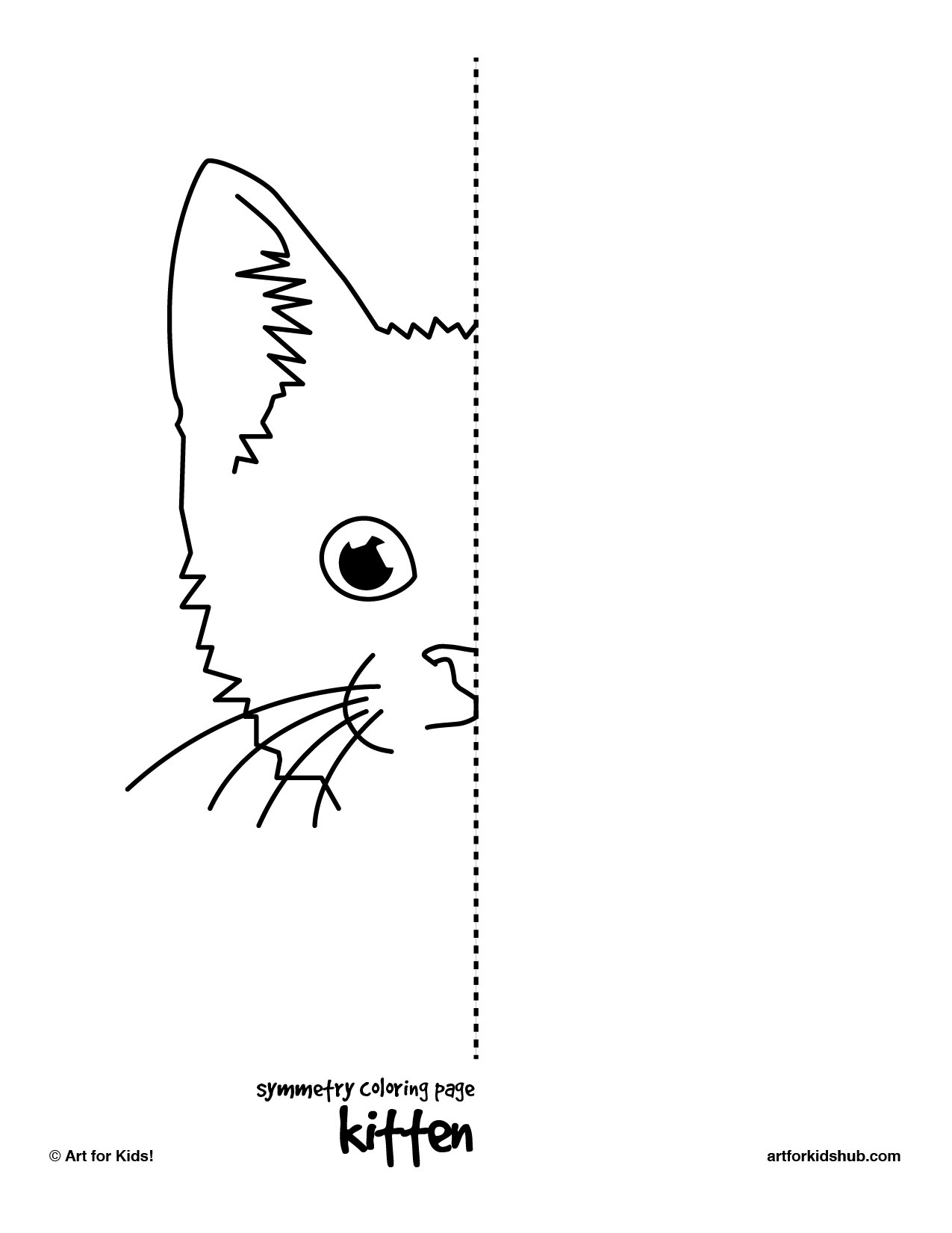 6 Best Images Of Symmetry Complete The Drawing Printables Symmetry Coloring Pages