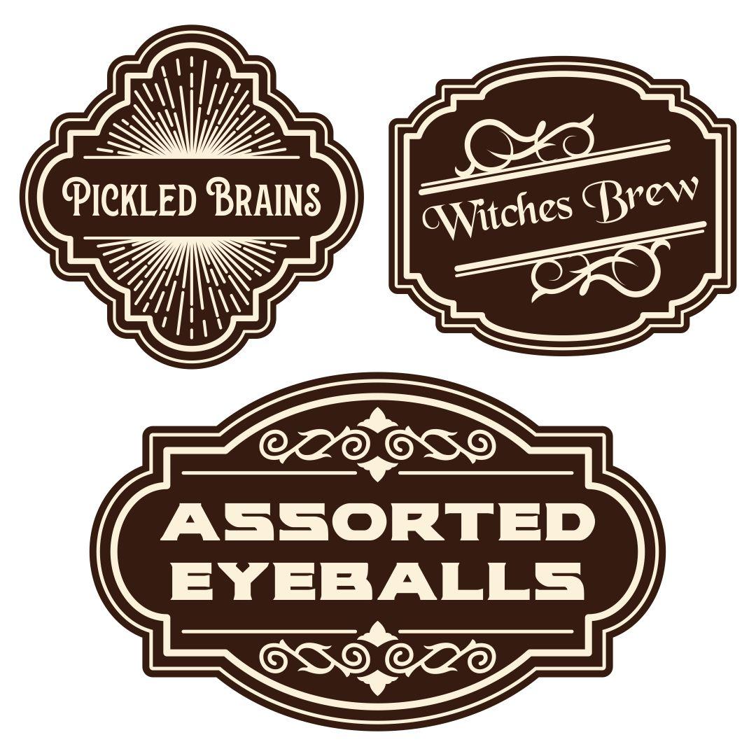 Vintage Halloween Potion Labels
