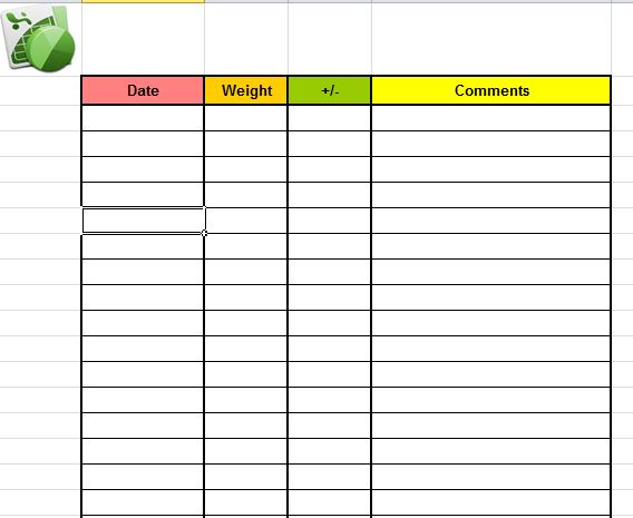daily weight loss chart pdf