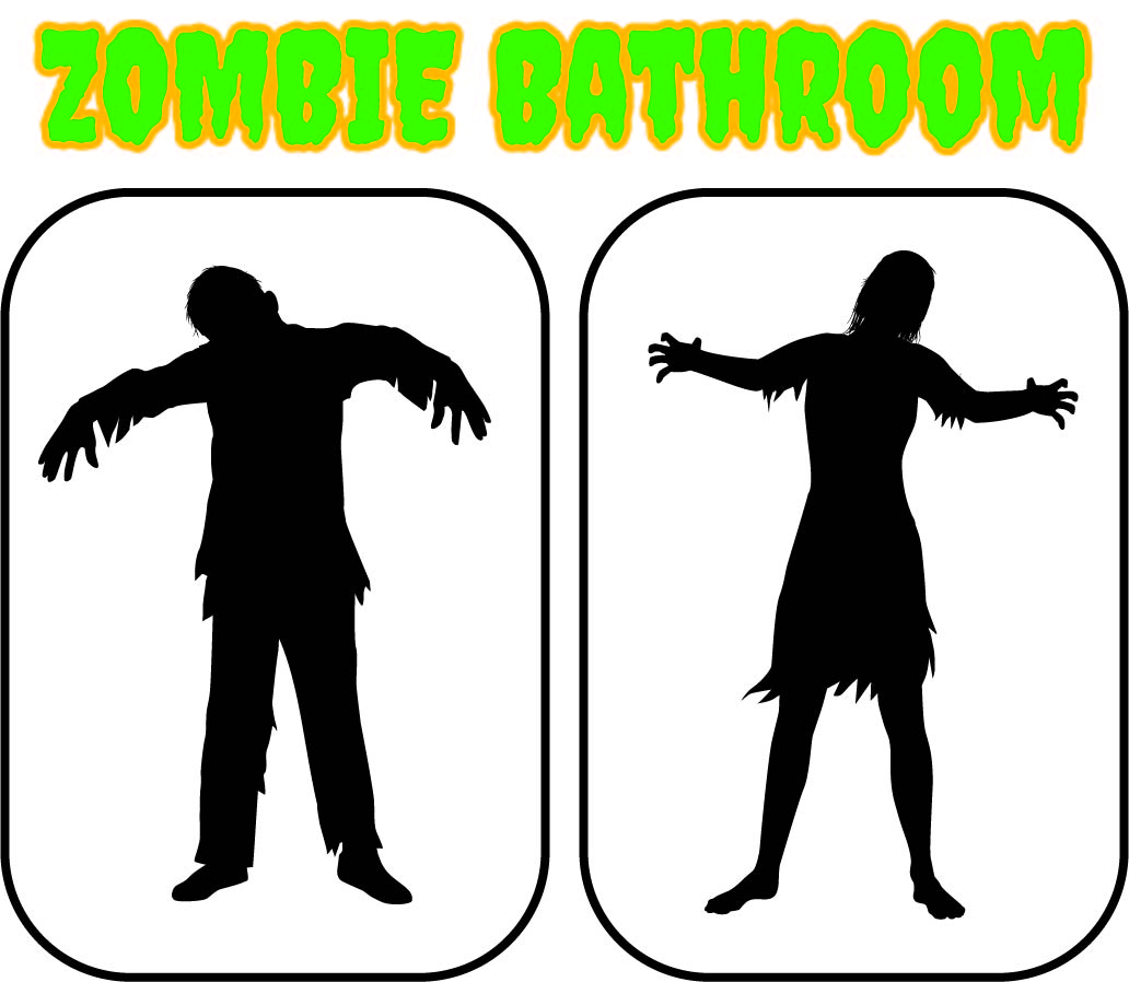 Zombie Bathroom Signs