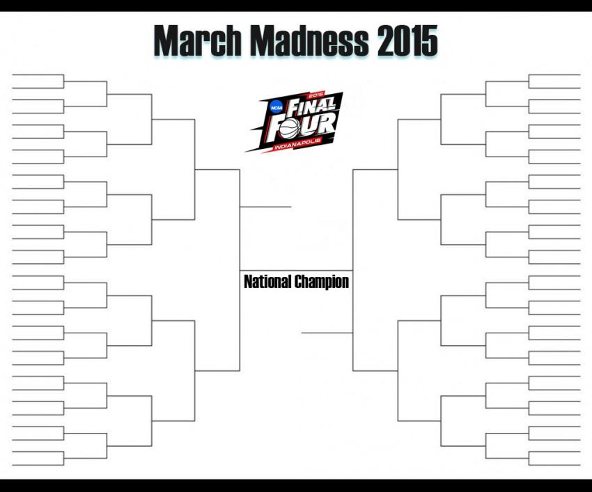 8 Images of NCAA Brackets Printable Brackets 2015