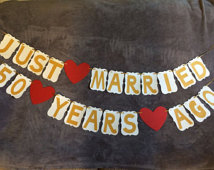 4 Images of Navy Blue Just Married Banner Free Printable