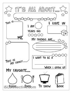 all about me kids pdf template letter printable