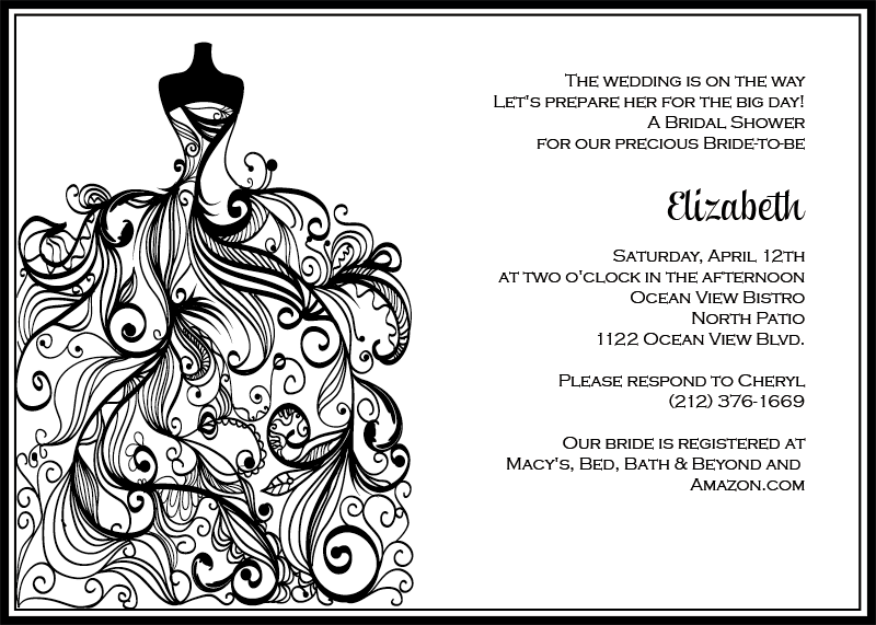 Free Red And White Wedding Invitation Templates : Wedding Invitation Templates Free, Black and White Wedding Invitation ...