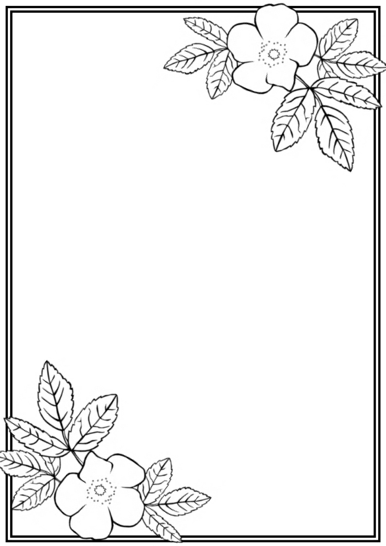 7 Images of Printable Flower Border Black And White