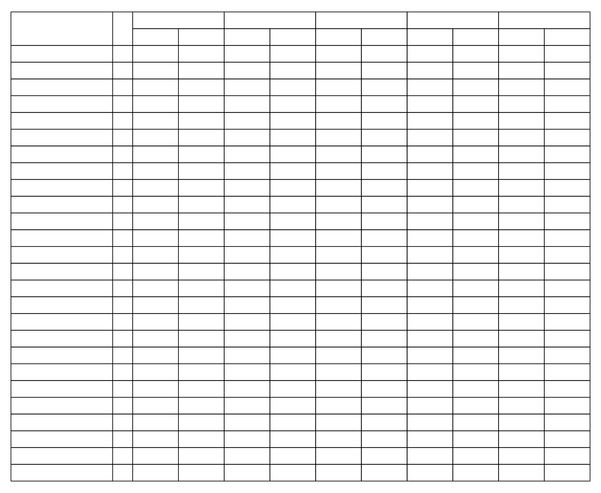 7 best images of free printable 4 column sheet