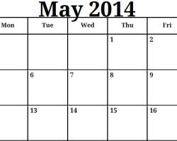 Blank Calendar May 2014