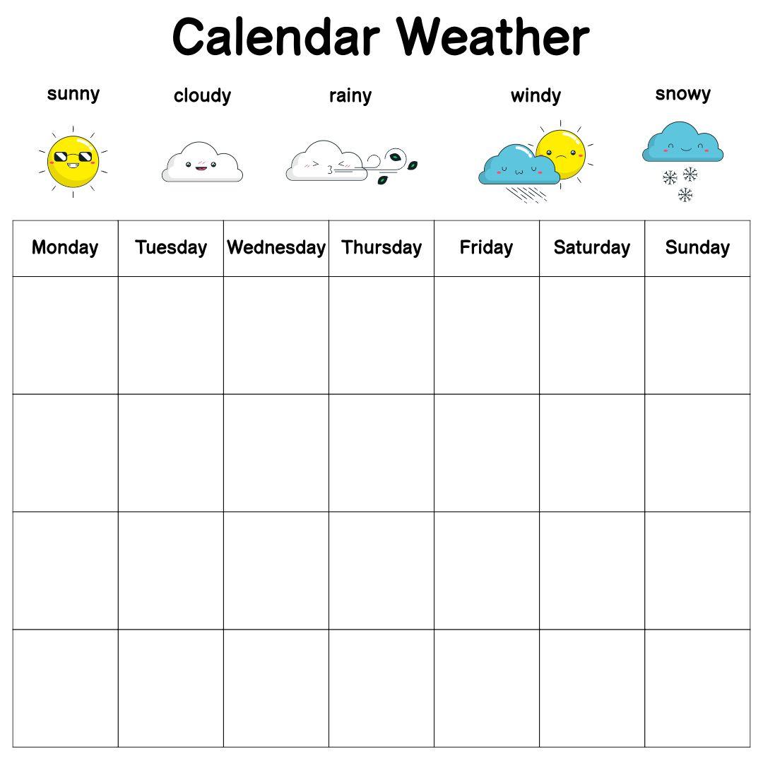 Calendar Weather Graph First Grade