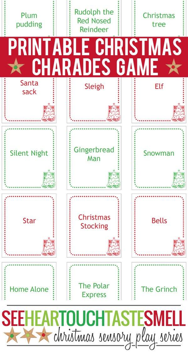 4 Images of Christmas Charades Free Printable
