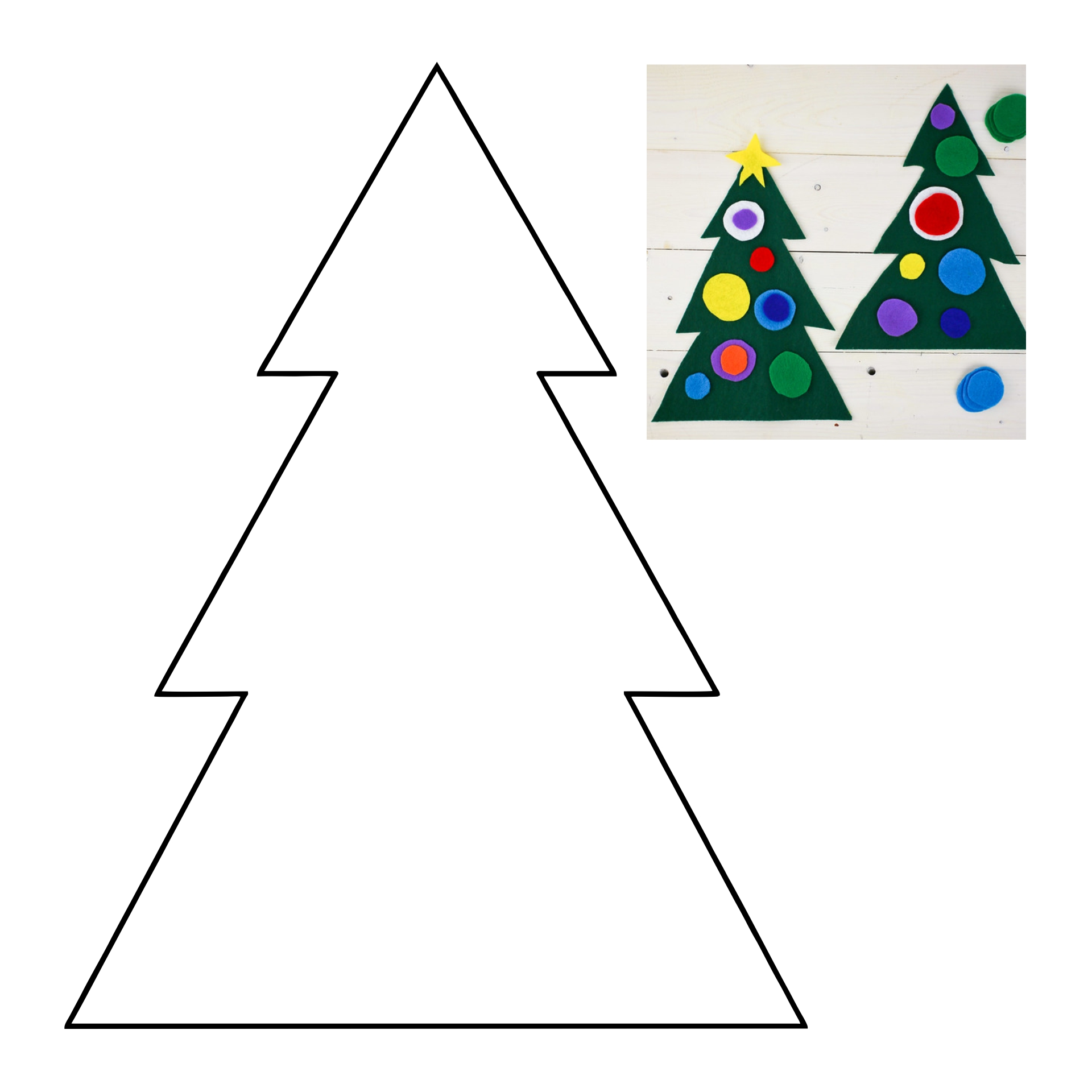 Christmas Tree Ornament Craft Preschool