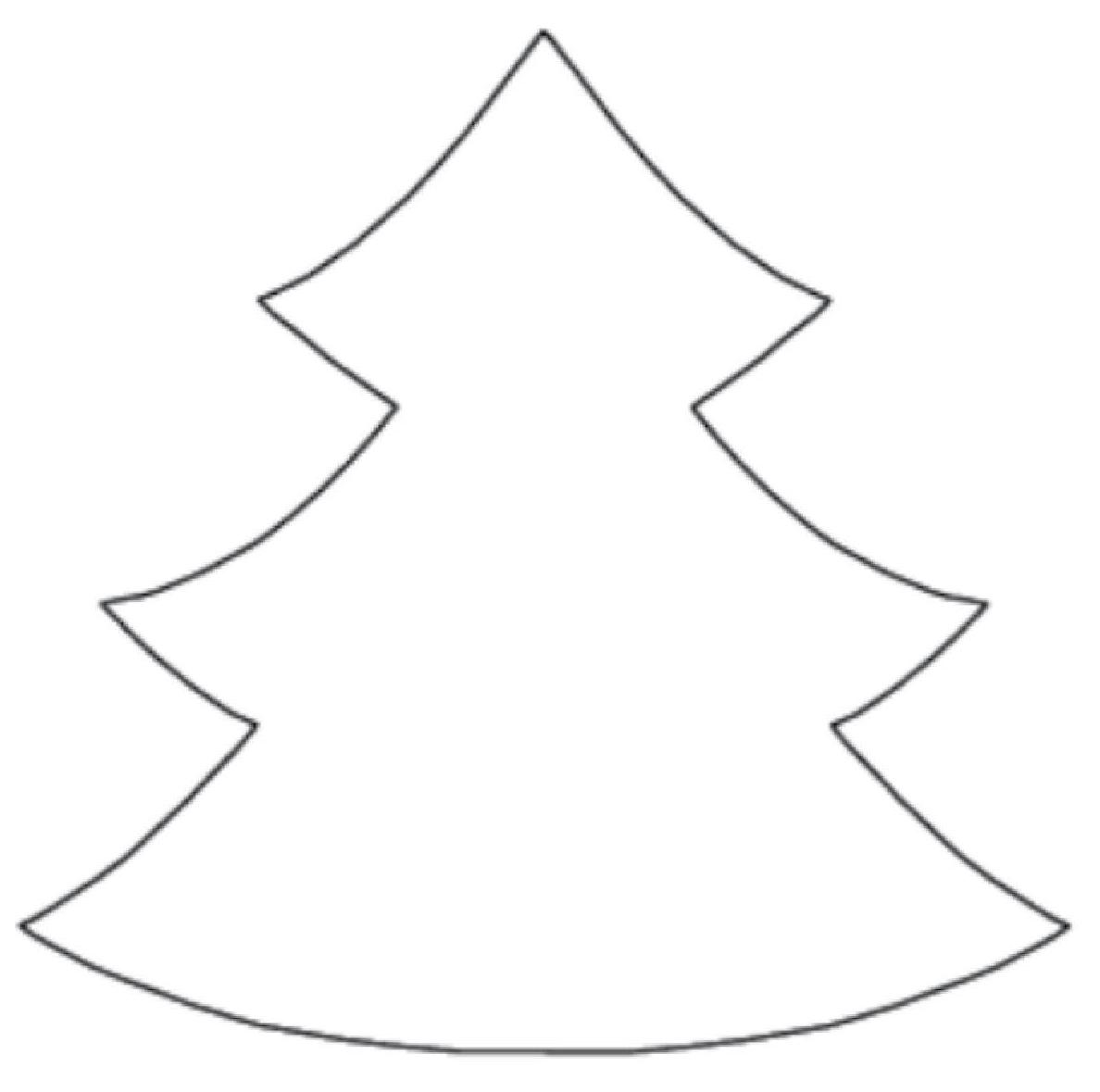 4 Best Christmas Tree Template Printable Printablee Com