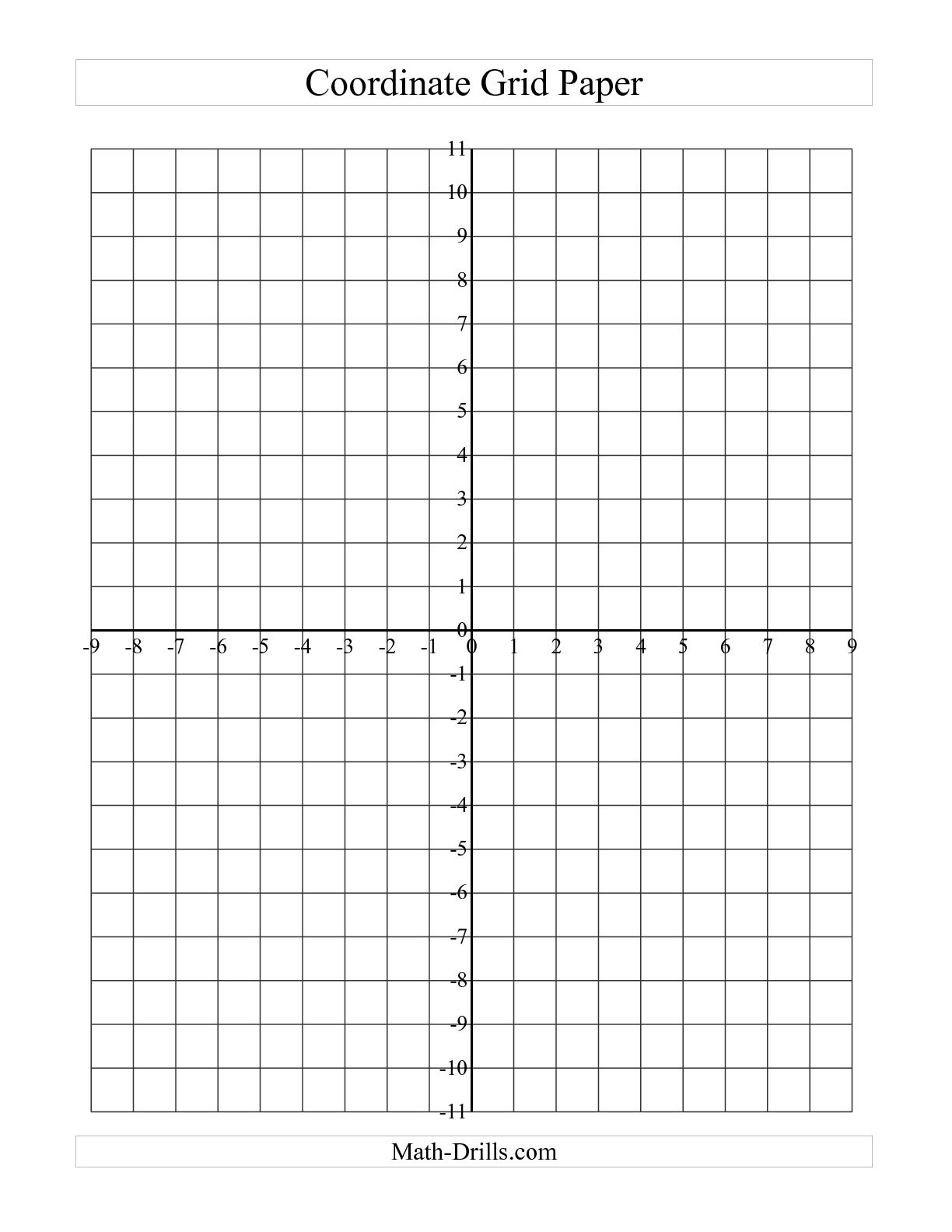 4 Images of Printable Coordinate Graph Worksheets