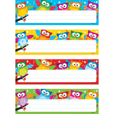 7 Images of Cute Owls Free Printable Name Tag