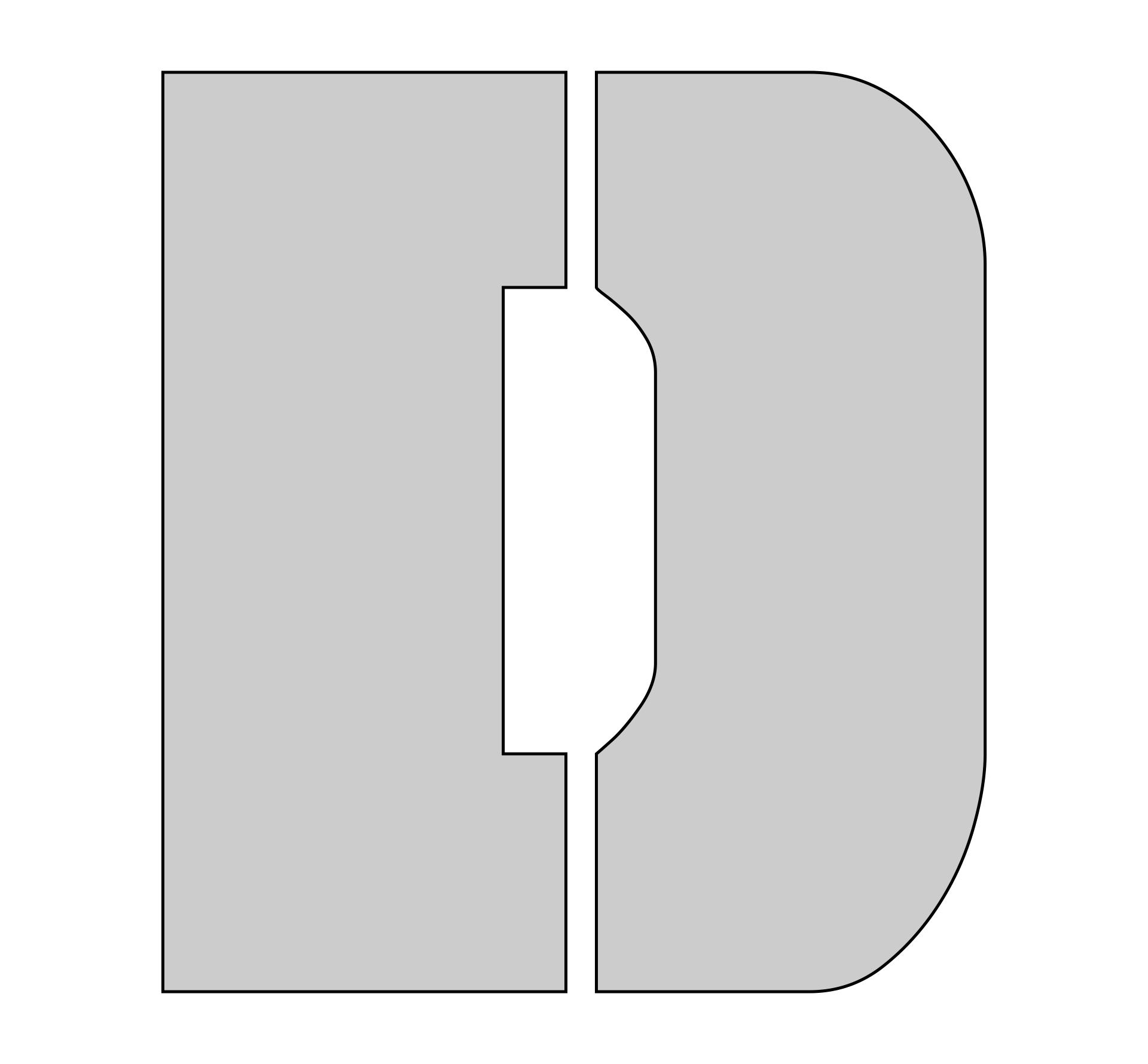 D-Block Letter Stencils Printable