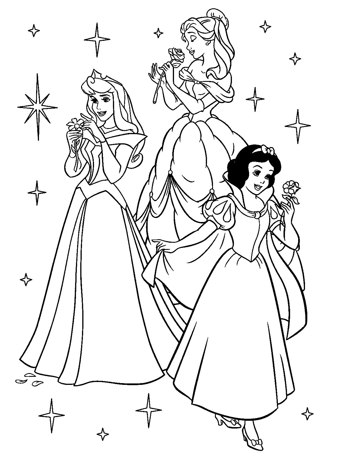 5 Images of Disney Princess Coloring Printables