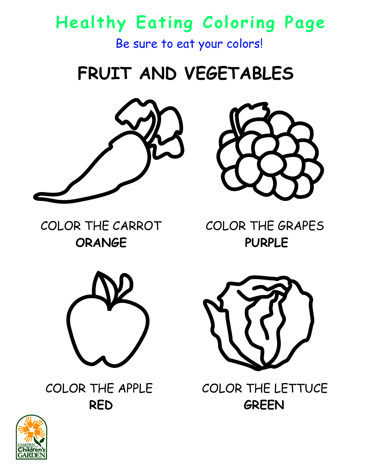 5 Best Images Of Healthy Eating Coloring Pages Printables