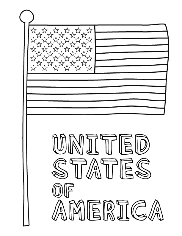 7 Images of Free Flag Printable Coloring Sheets