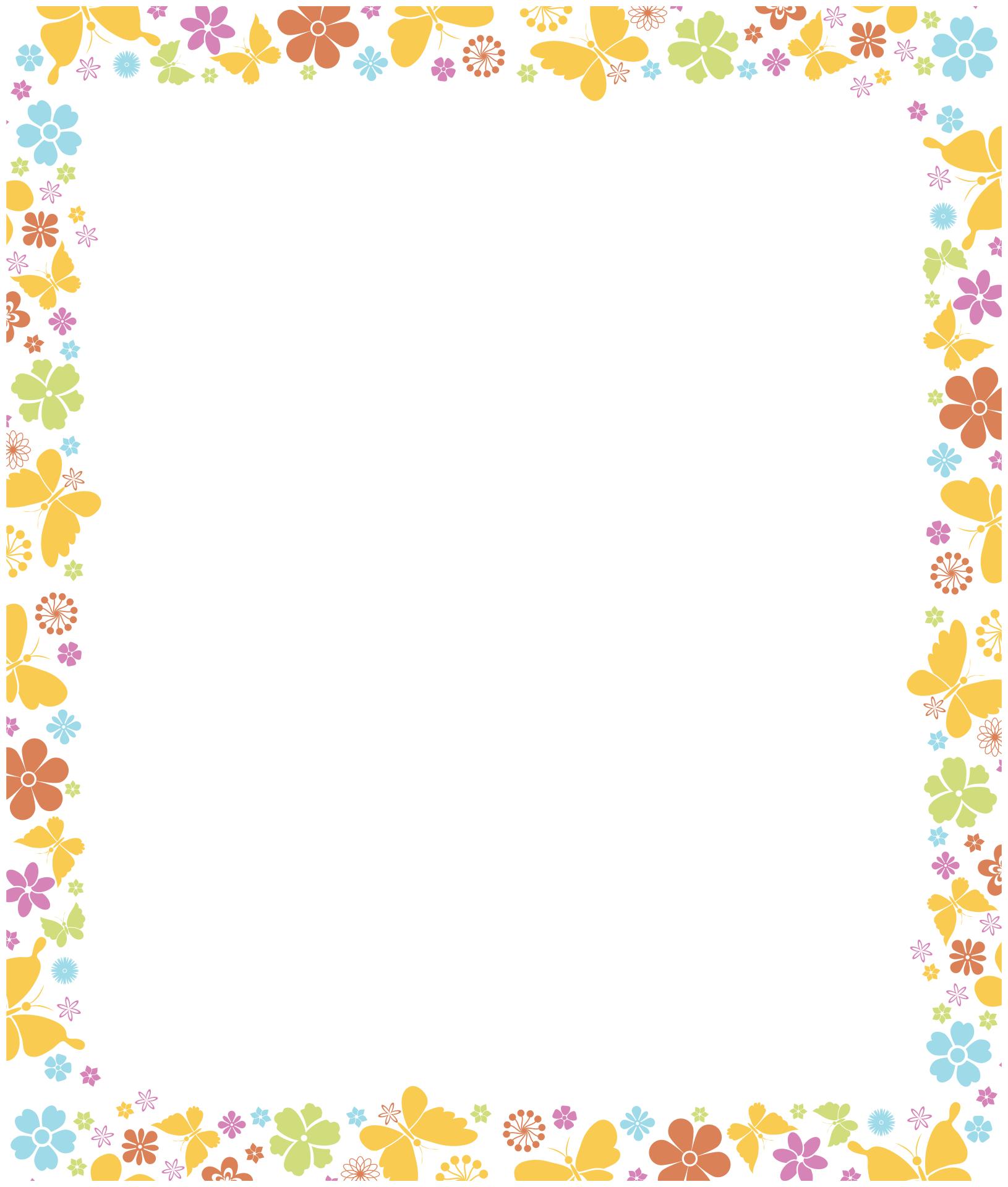 Butterfly Borders Clip Art