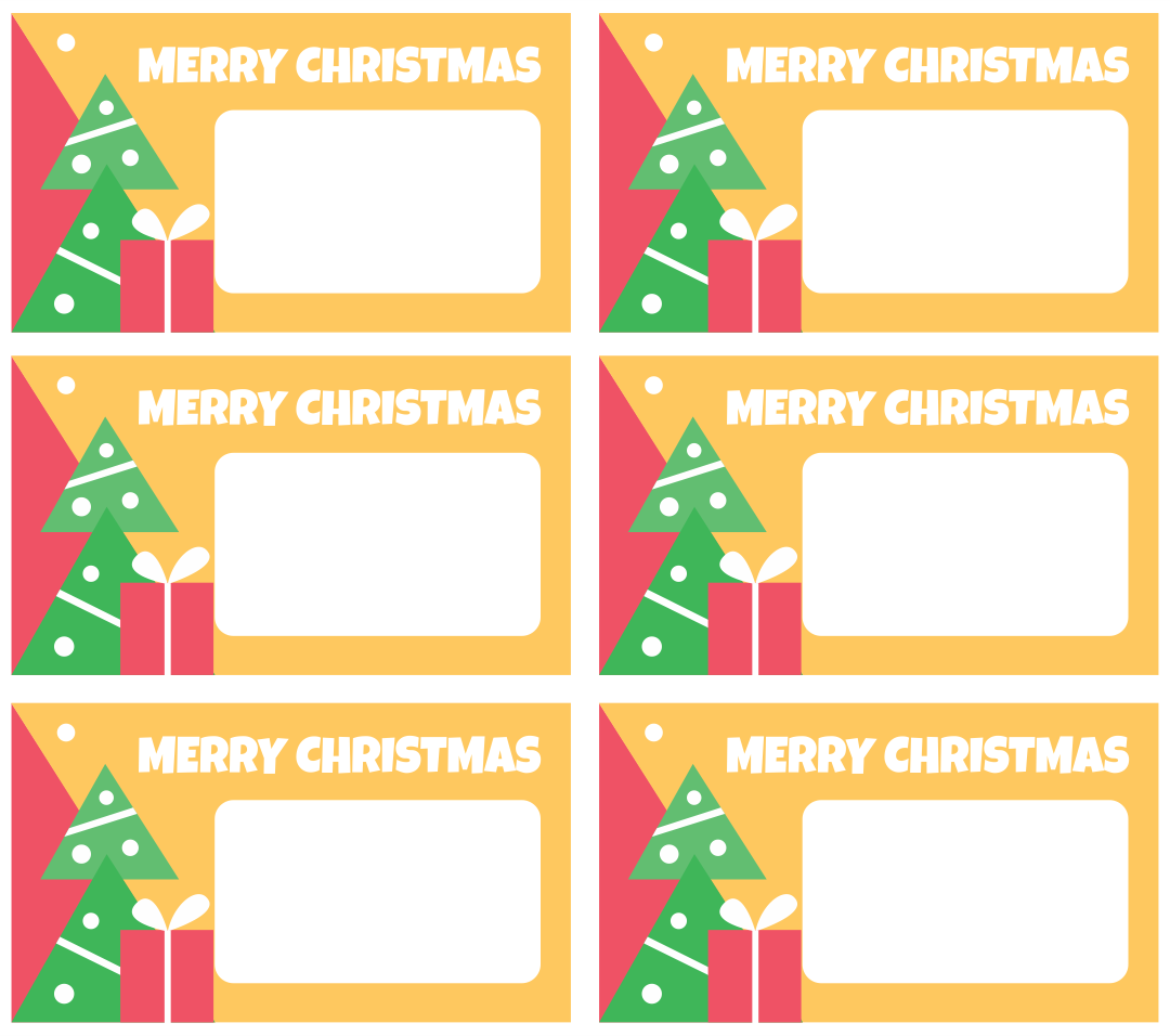 6 Images of Free Printable Christmas Gift Tags Round