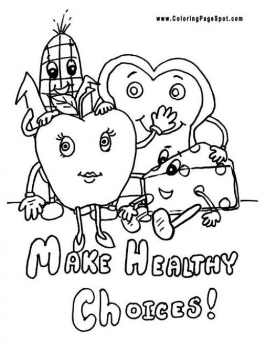 5 Images of Healthy Eating Coloring Pages Printables