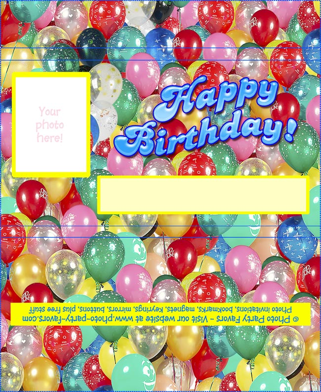 5 Images of Freeware Birthday Printable Candy Wrappers