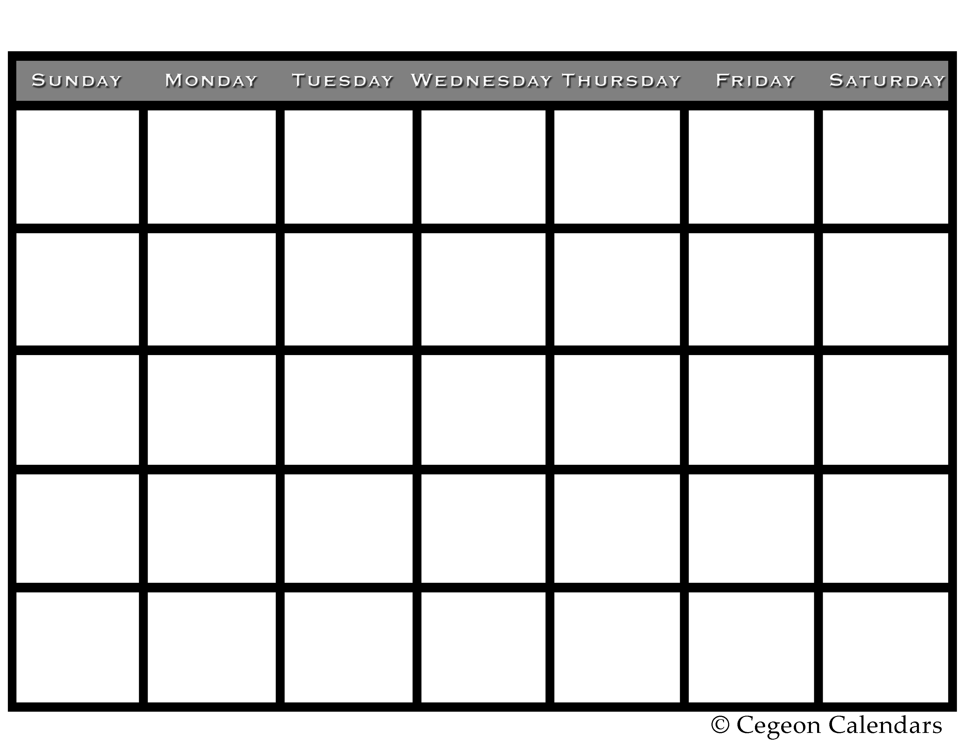 7 Images of Free Printable Blank Calendar Schedules