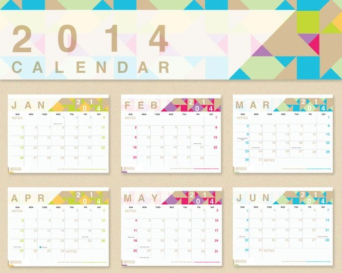 4 Images of 2014 Printable Calendars With Designs