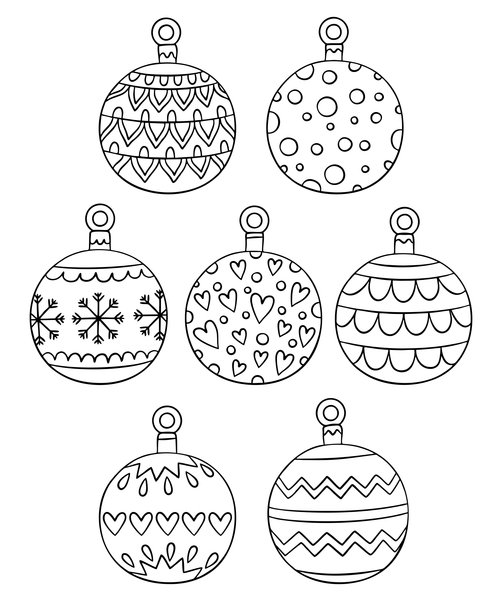 Printable Christmas Ornament Coloring Pages