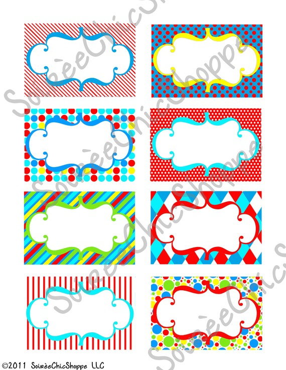 8 Images of Carnival Birthday Printable Labels