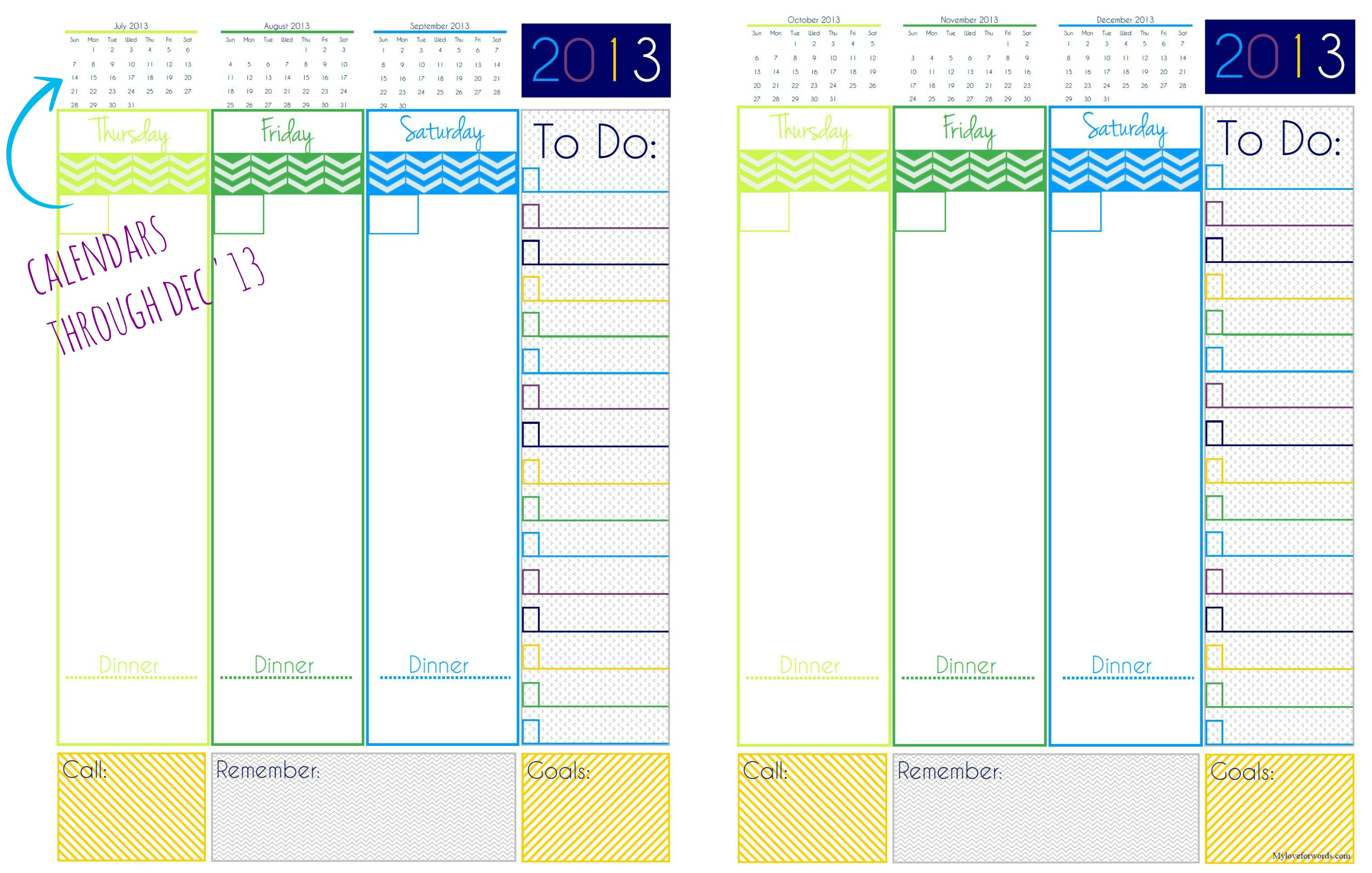 9 best images of cute daily planner page free printable for Online planner