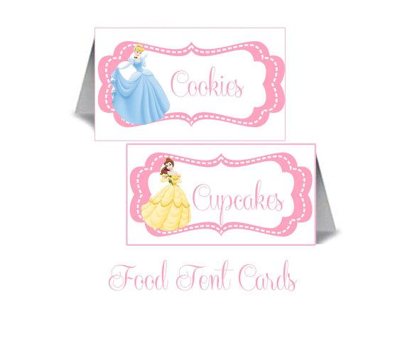 Disney Princess Party Food Labels