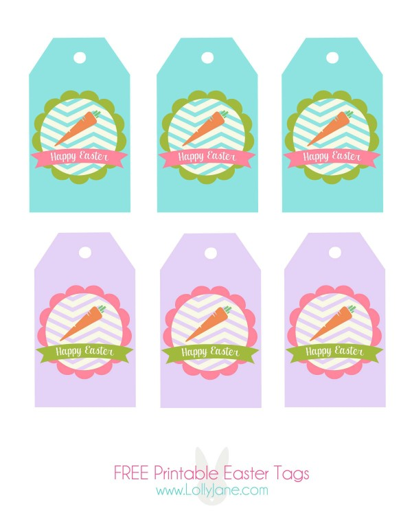 5 Images of Happy Easter Tags Printable Free