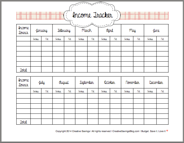 6 Best Images Of Printable Money Tracker Free Printable