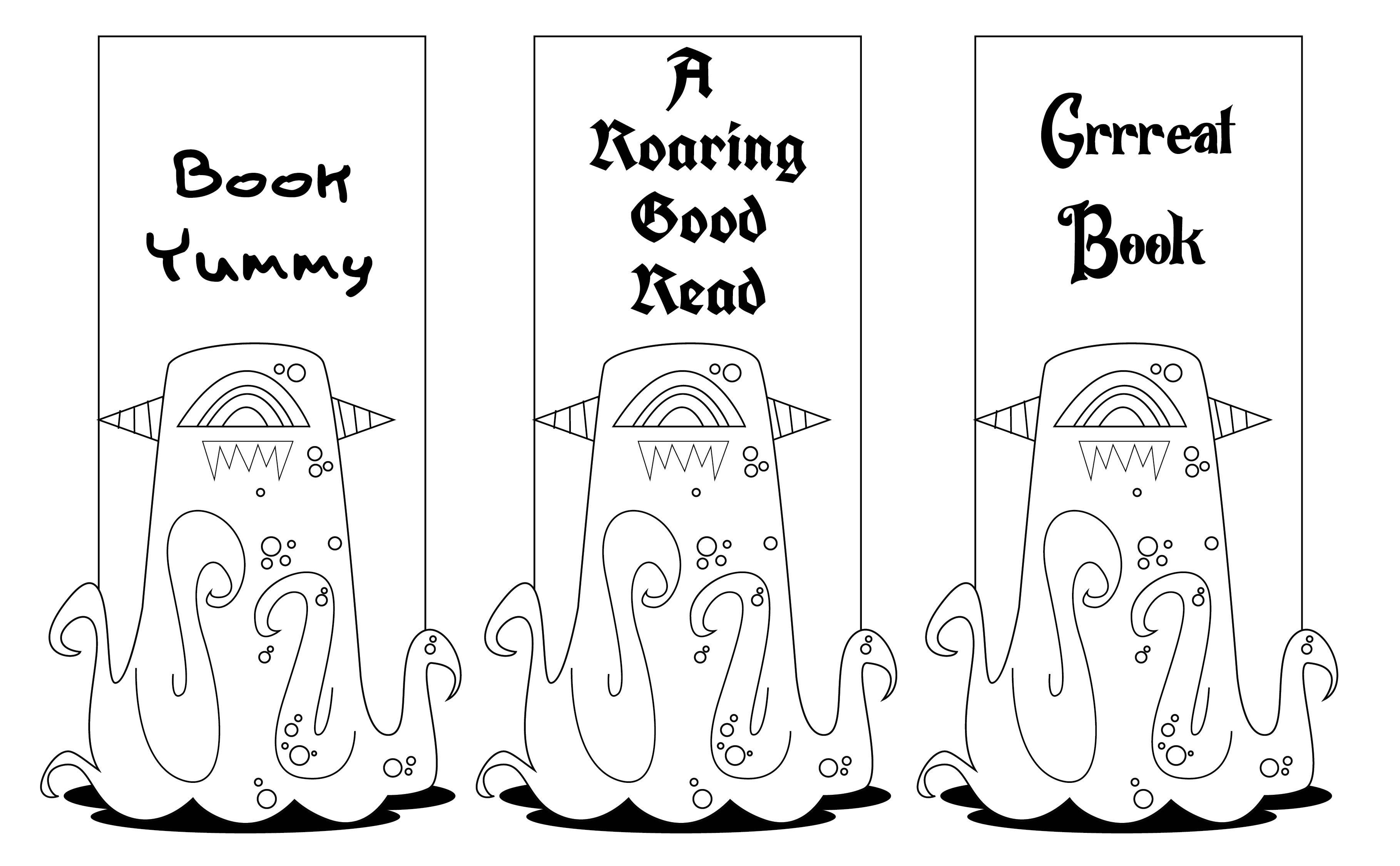 Printable Kids Bookmarks to Color