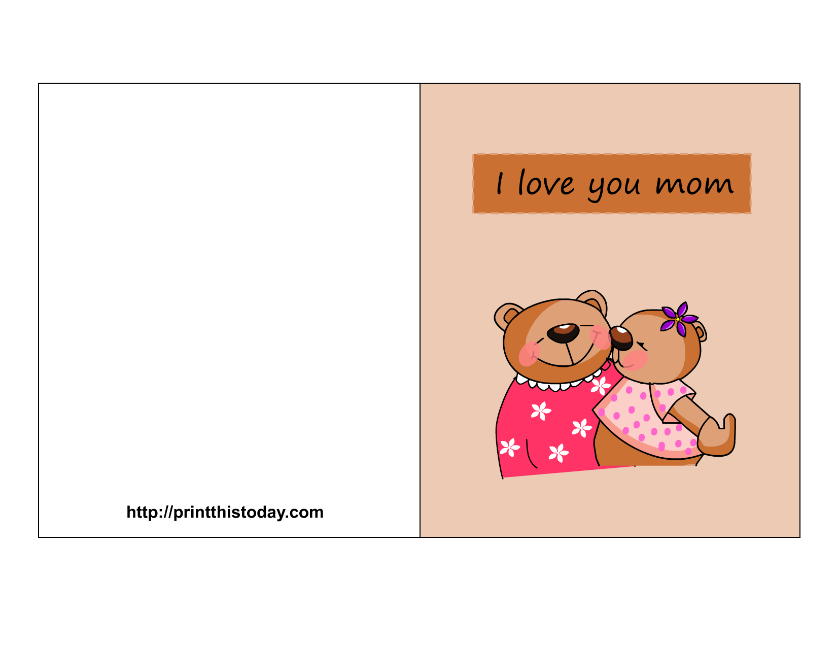 6 Images of I Love You Mom Cards Printable Free