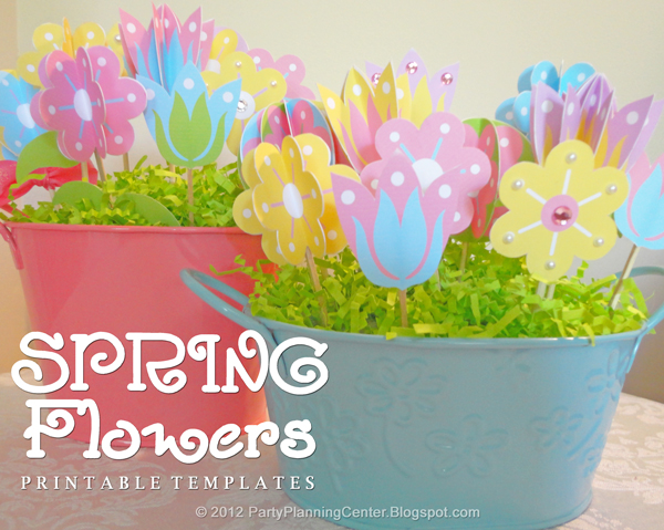 7 Images of Free Printable Spring Flowers Templates