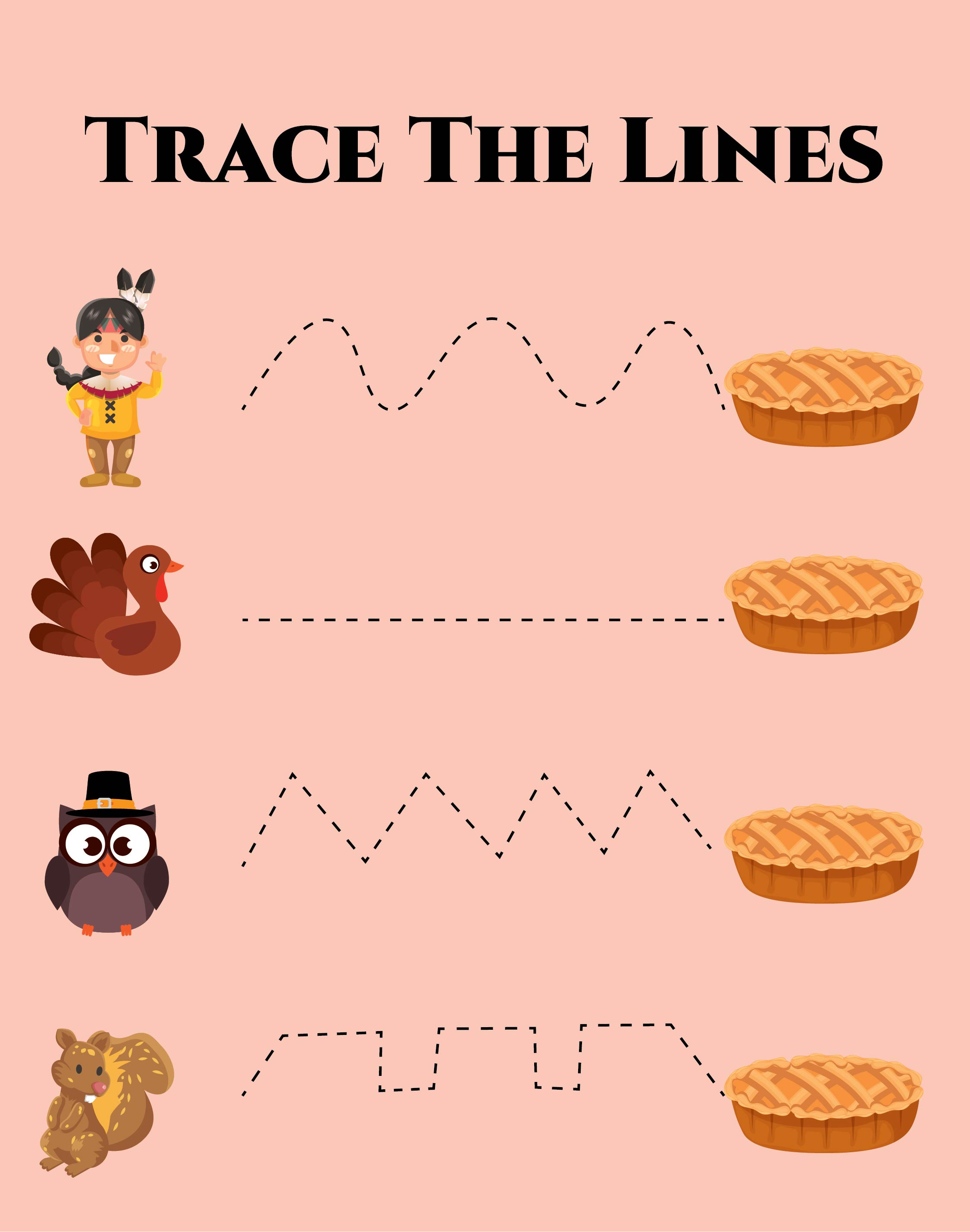 Printable Preschool Thanksgiving Activities