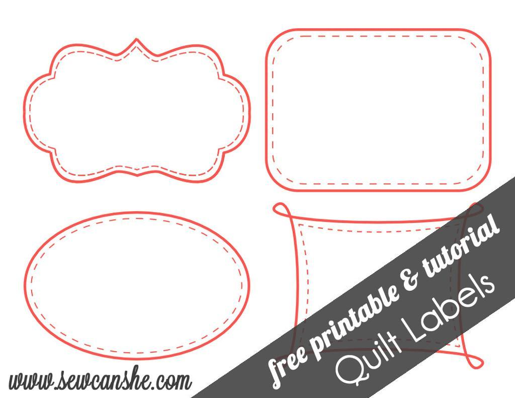 Free Printable Quilt Label Patterns