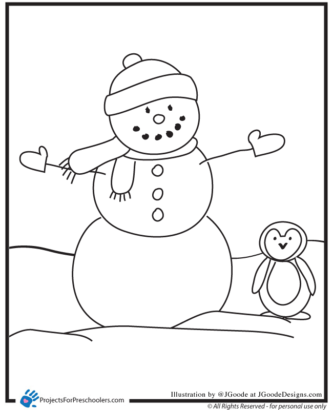 6 Best Images Of Coloring Page Printable Snowman Craft Free Printable Snowman Coloring Pages