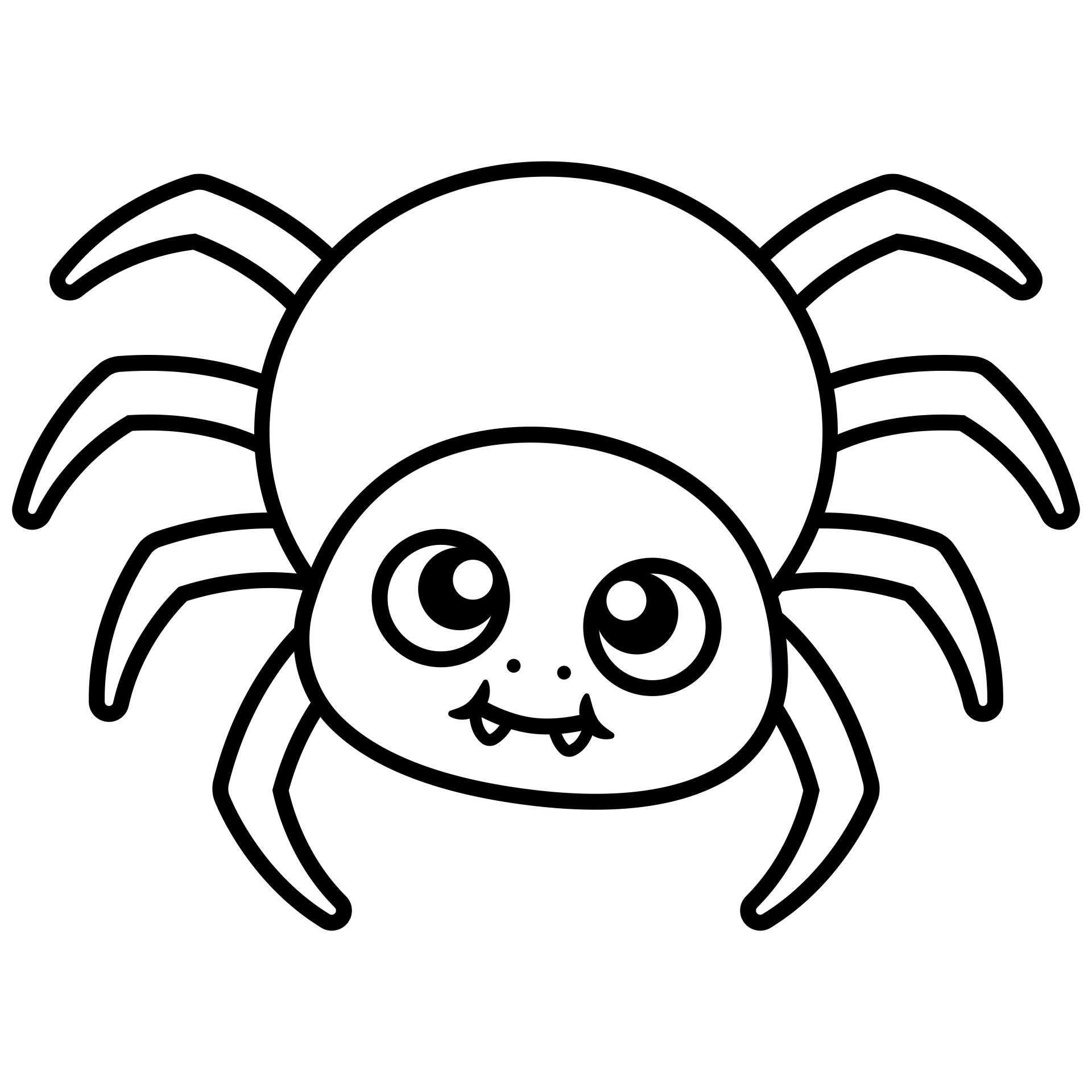 5 Images of Printable Halloween Spider Coloring Pages