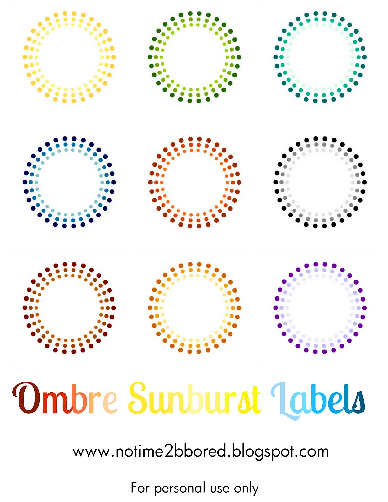 Free Printable Stickers Labels