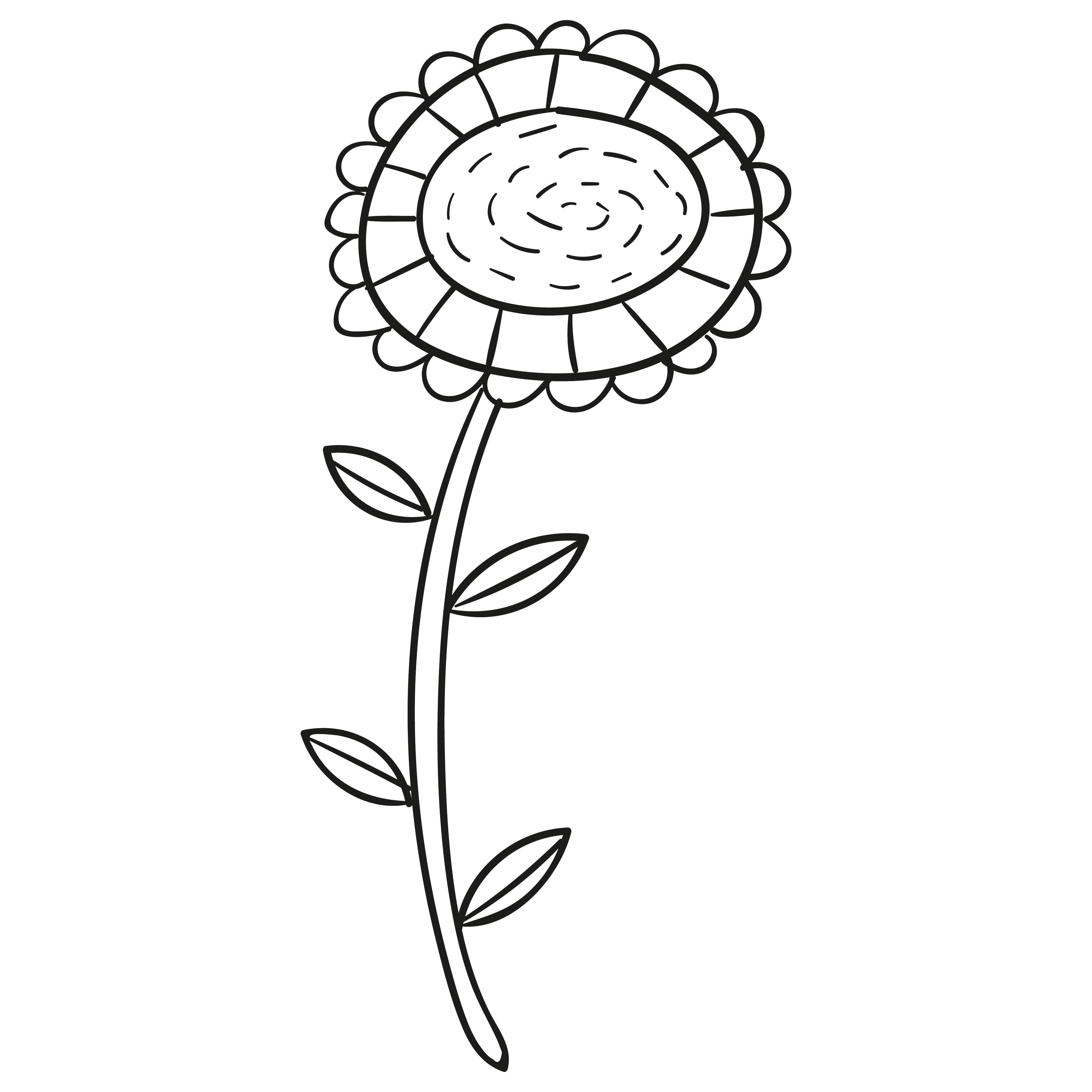Printable Sunflower Template